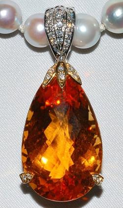 #146 - Diamond Citrine Pendant WEB