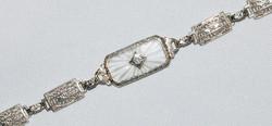 #355 - Art Deco Camphor Glass Bracelet W