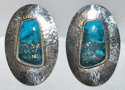 Sterling Turquoise Earrings WEB