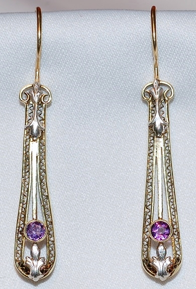 #675 14k Amethyst Earrings