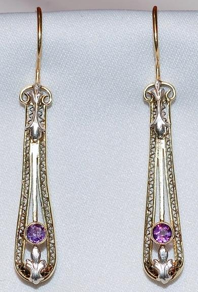 #675 14k Amethyst Earrings