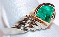 #182 Platinum 1.89ct Emerald Ring