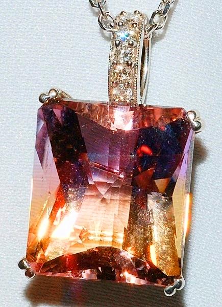 #970 - Ametrine & Diamond Pendant WEB