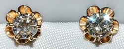 #973 - Pair of 14k Diamond Stud Earrings