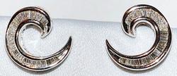 #146 14k Diamond Earrings