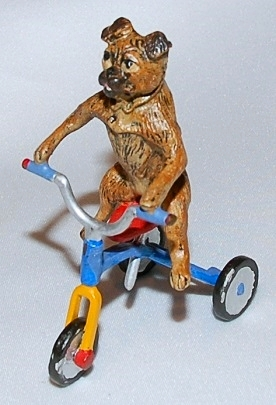 Pug on Tricycle Vienna Bronze