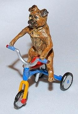 Pug on Tricycle Vienna Bronze