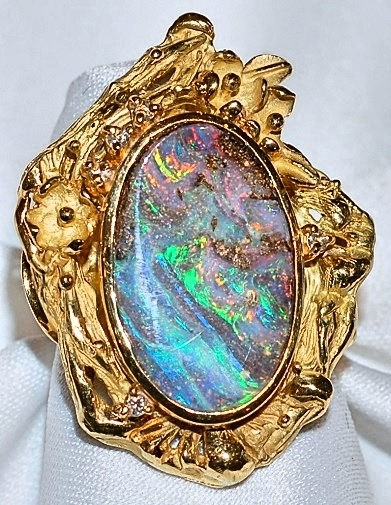#981 14k Boulder Opal - 6.86cts