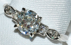 #216 - Art Deco Diamond Engagement Ring WEB