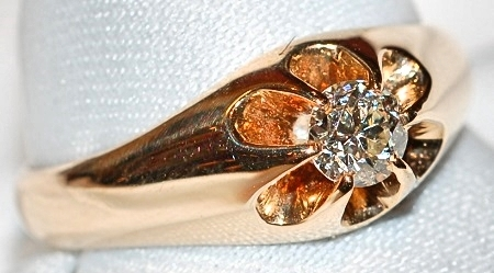 #898 14k Old Euro Cut -.30cts Ring