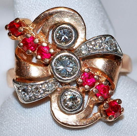 #615 14k / Plat Ruby & Dia Ring