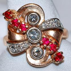 #615 14k / Plat Ruby & Dia Ring
