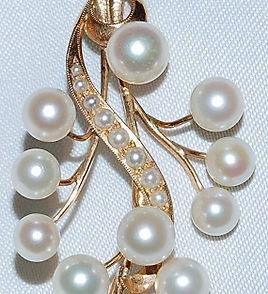 #964 - Cultured Pearl Gold Pin    WEB.jp