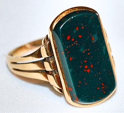 #728 18k Bloodstone Ring c.1850-1880
