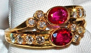 #133 18k Ruby & Diamond Ring