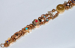 #659 Multi Gem Slide Bracelet