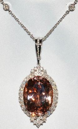 #1117 - Morganite Diamond Necklace WEB