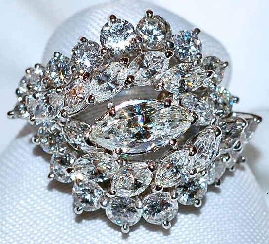 #163 Plat 4.00ct Diamond Ring