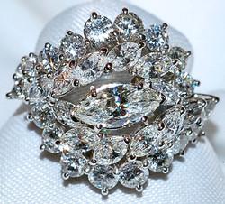 #163 Plat 4.00ct Diamond Ring