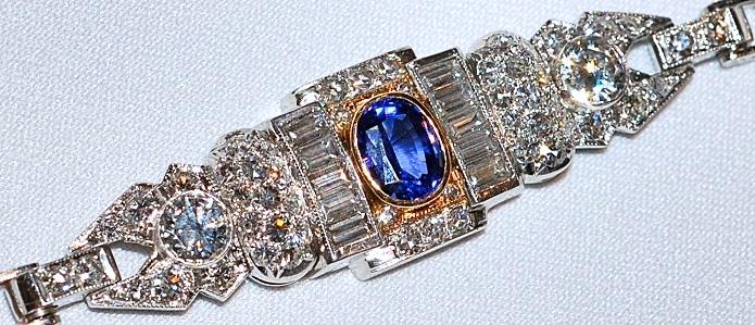 #590 Plat Sapphire & 4.14ct Diamond