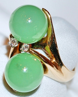 #15 14k Jade & Dia -.07cts Ring
