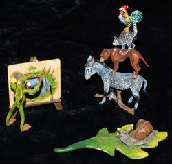 Various Hand Painted Viennese Bronze