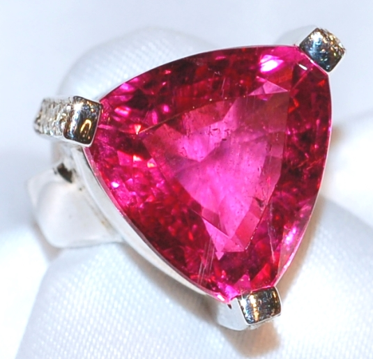 #044 Rubellite 16.50ct & Dia Ring