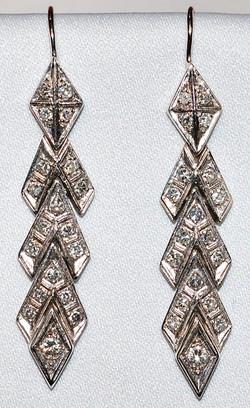 #739 14k Retro Diamond Earrings