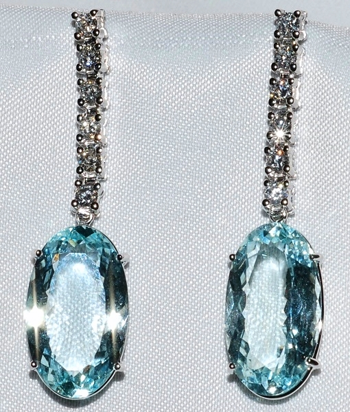 #139 - Diamond Aquamarine Earrings WEB
