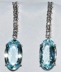 #139 - Diamond Aquamarine Earrings WEB