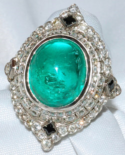 #126 - Platinum Emerald Diamond & Black