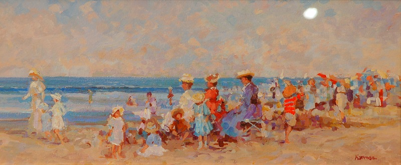 """Summertime"" Oil by R. Hamman"