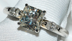 #214 - Platinum Diamond Engagement Ring WEB