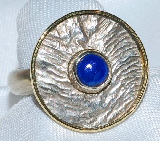 14k Sterling Lapis Ring WEB