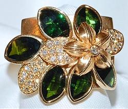 #1011 14k Tourmaline & Diamond Ring