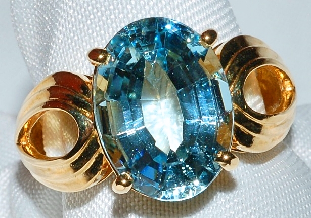 #128 - Aquamarine Fashion Ring WEB