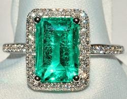#357 - Emerald & Diamond Ring WEB