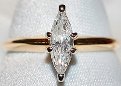 #1021 14k .37ct Marquise Dia Ring