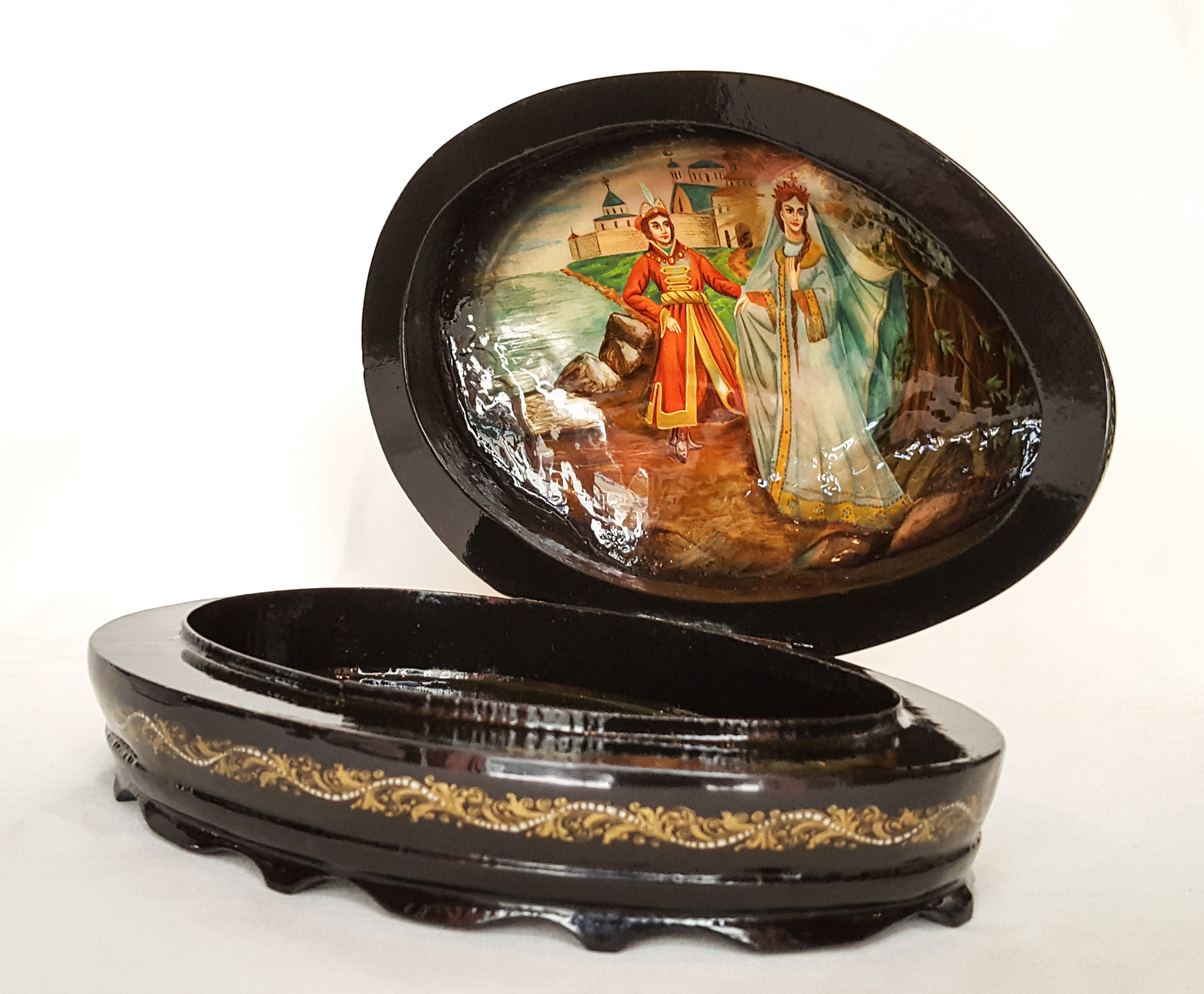 Hand Painted Abalone Box. Russia