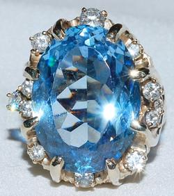 #009 - 14k YG Spinel & Diamond Ring WEB.