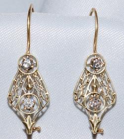 #349 - Art Deco Diamond Earrings WEB