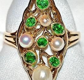 #263 - Garnet & Pearl Ring  WEB1.jpg