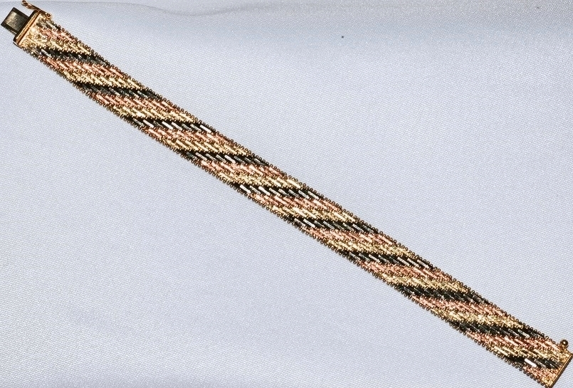 #130 - Tri-Color Gold Bracelet WEB