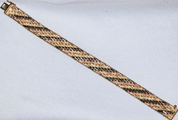 #130 - Tri-Color Gold Bracelet WEB