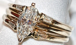 #005 14k .84cts Marquise Dia Ring