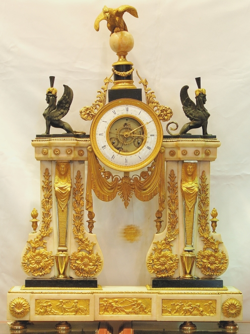 French Marble & Gilt Ormolu Clock