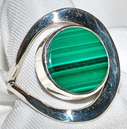Taxco Sterling Malachite Ring WEB