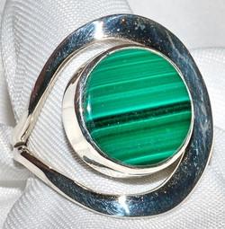Taxco Sterling Malachite Ring WEB
