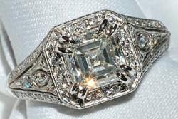 #047 - Assher Cut Diamond Ring WEB