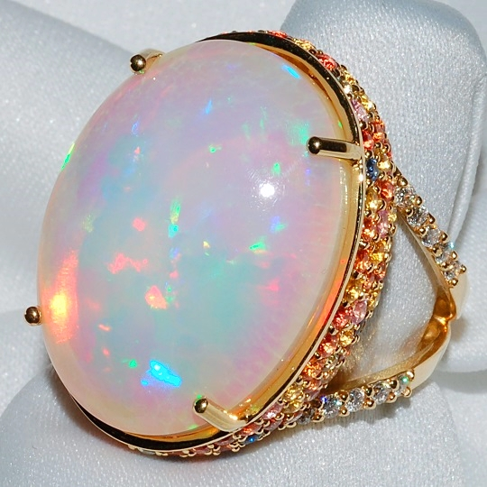 #833 - Ladies Opal Ring WEB